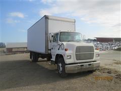 1997 Ford LN7000 Van Truck W/Enclosed 24' Supreme Corp Box W/Rollup Door