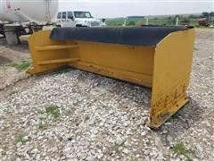 Heavy Duty 11' Wide Snow Pusher Loader Attachment