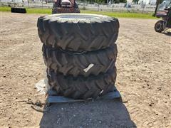 Titan 13.6R24 R-1 Radial All-Purpose Ag Lug Tire On Manual Adjust Steel Rim
