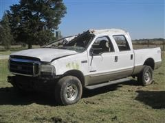 2000 Ford F350 Super Duty 4x4 Pickup For Parts