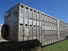 1991 Merrit 46' Aluminum T/A Livestock Trailer