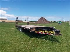 2014 Big Tex T/A Flatbed Trailer W/Dove Tail