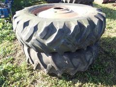 9 Bolt Rims W/18.4-38 Tires