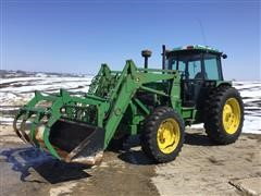1990 John Deere 3155 MFWD Tractor W/265 Loader & Bucket