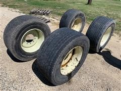 Michelin Super Single 455/55R22.5 Tires On Rims