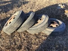 Firestone 9.00-20 Tires W/6-Hole Rims