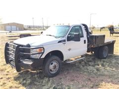 2013 Ford F350XL Super Duty 4x4 Dually Flatbed Pickup