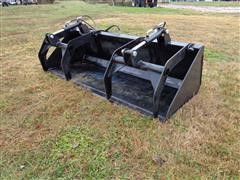 "2018 Brute 80"" Grapple Bucket Skid Steer Attachment"