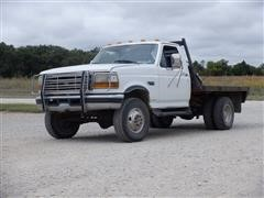 1996 Ford F350 4x4 Flatbed Pickup
