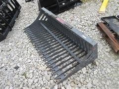"2015 Versatech 72"" Skeleton Rock Bucket Skid Steer Attachment"
