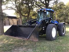 2014 New Holland TV6070 4WD Bi-directional Tractor W/Loader