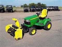 2010 John Deere X728 Ultimate 4WD Garden Tractor W/Mower Deck & Snowblower