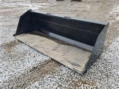 2020 Kit Containers High-Capacity Snow Bucket Skid Steer Attachment