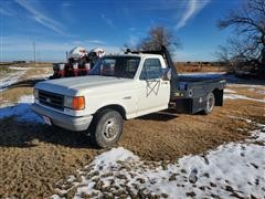 1988 Ford F350 2WD Flatbed Dually Pickup