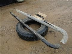Mounted Tires, Chain Saws, Auto Crane, and More