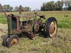 John Deere A 2WD Tractor W/Kosch Under Belly Mower