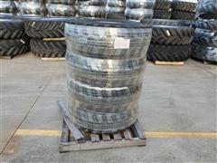 Titan 12.5/80-18 NHS 10 Ply Bias Industrial Lug Tires On Solid Steel Rims
