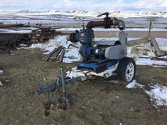 "Gorman-Rupp 14A2-B 4"" Pump W/Electric Motor On Trailer"