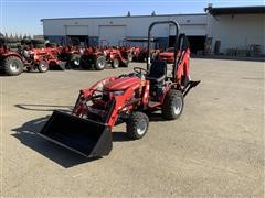 2016 Mahindra EMax 22L MFWD Compact Utility Tractor W/Backhoe & Loader