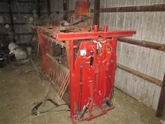 Titan West Hydraulic Operated Livestock Squeeze Chute