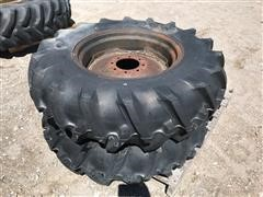 13.6-24 Firestone Pivot Tires W/Steel Rims
