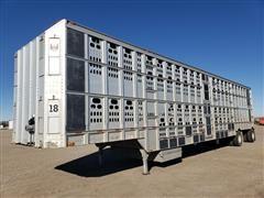 2003 Barrett T/A Aluminum Livestock Trailer