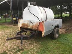 500-Gal Fuel Tank On Pickup Box Trailer