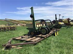 """John Deere 7100 12R20"""" Planter W/30' John Deere Implement Trailer & Noble Cultivator Tiller"""