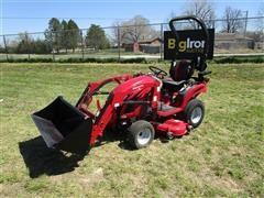 2018 Mahindra EX20S4FHTLM EMax 20S MFWA Compact Tractor W/Loader & Mower
