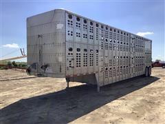 1994 Wilson PSDCL-302 T/A Aluminum Livestock Trailer