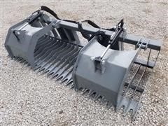 2020 Hawz Skid Steer Mount Rock & Brush Grapple
