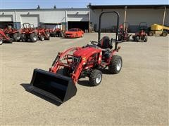 2017 Mahindra EMax 22L MFWD Compact Utility Tractor W/Loader