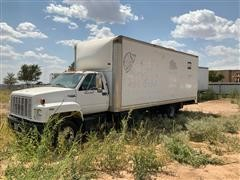 1992 GMC Topkick LoPro Truck W/rear Enclosed Box