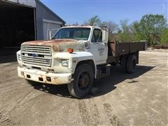 1990 Ford F600 S/A Dump Truck