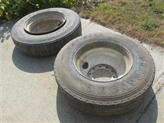Firestone T663 Truck Tires On Rims