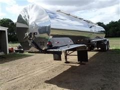 1975 Polar 6500 Gallon T/A Insulated Stainless Tanker Trailer W/16' Spray System