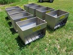 Big Husky Stainless Steel Pig Indoor Feeders
