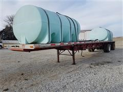 2003 Transcraft Eagle II 48' T/A Flatbed Trailer W/Nurse Tanks