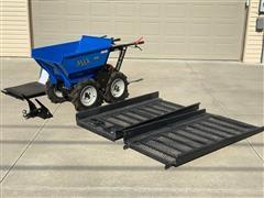 Muck Truck MAX Mk II Dumper Motorized Wheelbarrow W/ Attachments