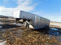 2017 Wilson PSGN 5724 T/A Gooseneck Aluminum Livestock Trailer