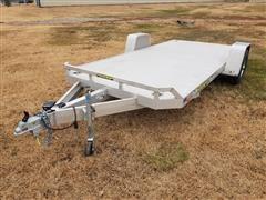 2019 Aluma 8214HS 2 Wheel S/A Flatbed Utility Trailer