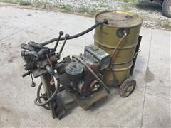 Briggs & Stratton 14 Gas Engine W/Hydraulic Pump & Valves On Cart