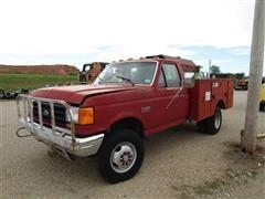 1988 Ford F350 4x4 Utility Truck