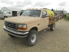1996 Ford F350 4x4 Pickup Mounted Sprayer