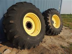 24.5-32 Combine Tires W/ Rims