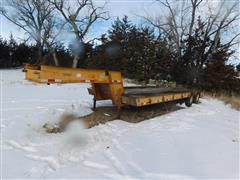 1971 Hyster C25CTA T/A Machinery Lowboy Trailer