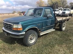 1995 Ford F250XLT 4x4 Flatbed Pickup