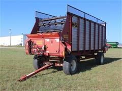 H&S 4 Wheel 417 Heavy Duty Self Unloading Conveyor Wagon