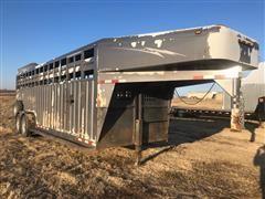 2005 Trailman Ranch Series Gooseneck T/A Livestock Trailer