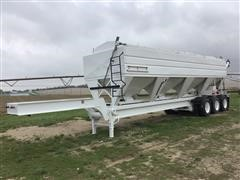2000 Convey-All 8X43 Tri/A Hopper Fertilizer Trailer